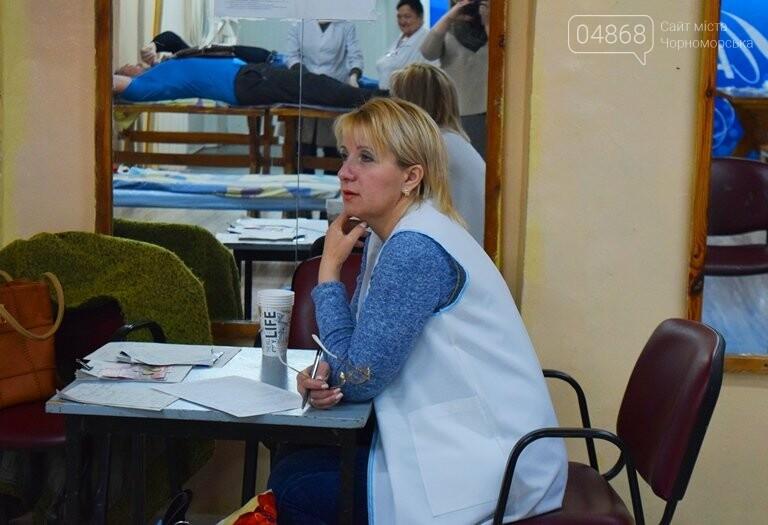 Спасая чью-то жизнь: жители Черноморска сегодня сдавали кровь (видео), фото-3