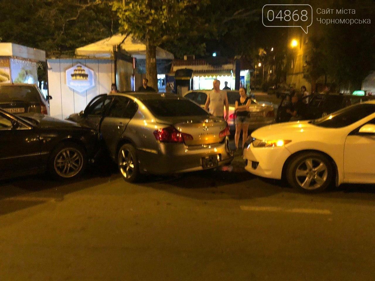 Audi протаранил три машины: ночное ДТП в Черноморске, фото-4