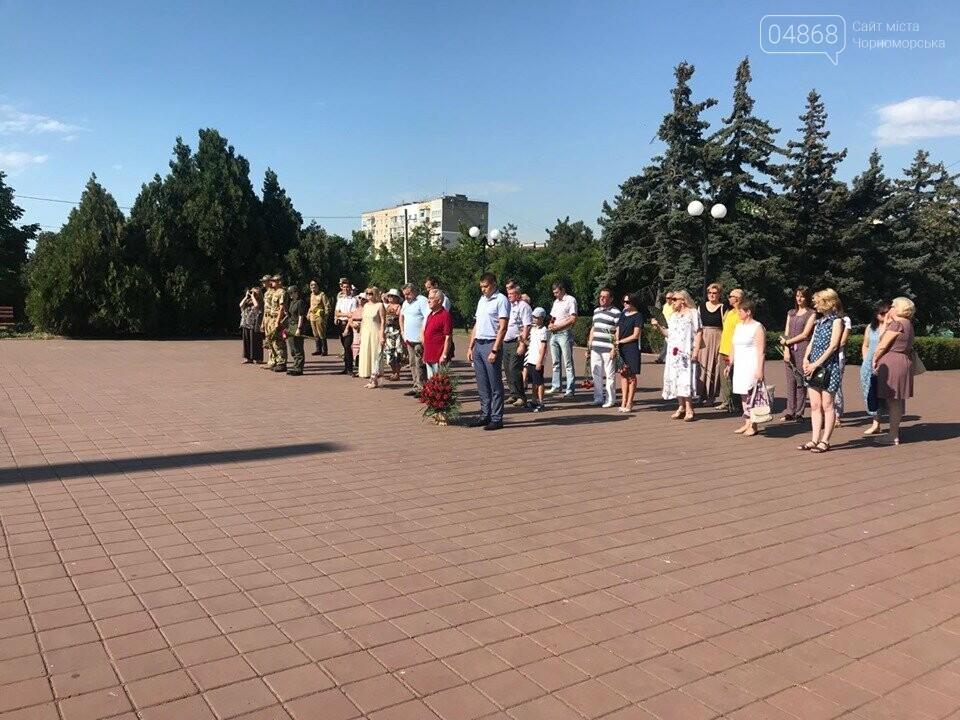В Черноморске состоялась церемония возложения цветов , фото-2