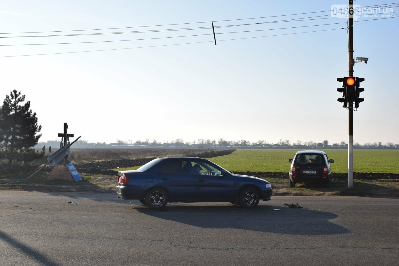 Утренее ДТП в Черноморске, фото-1