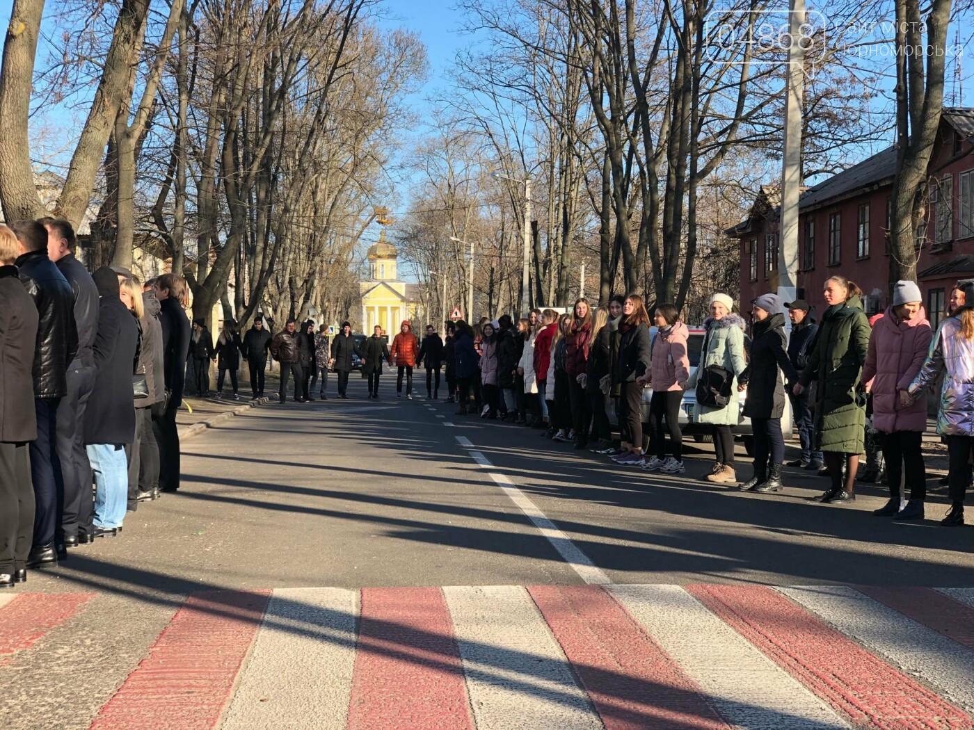 В Черноморске отметили День Соборности живой цепью, фото-6