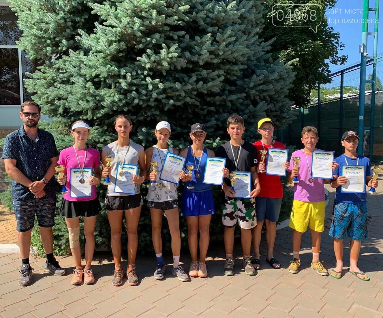 В Черноморске прошёл детский теннисный турнир, фото-1