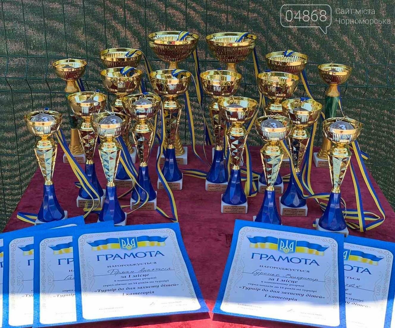 В Черноморске прошёл детский теннисный турнир, фото-4