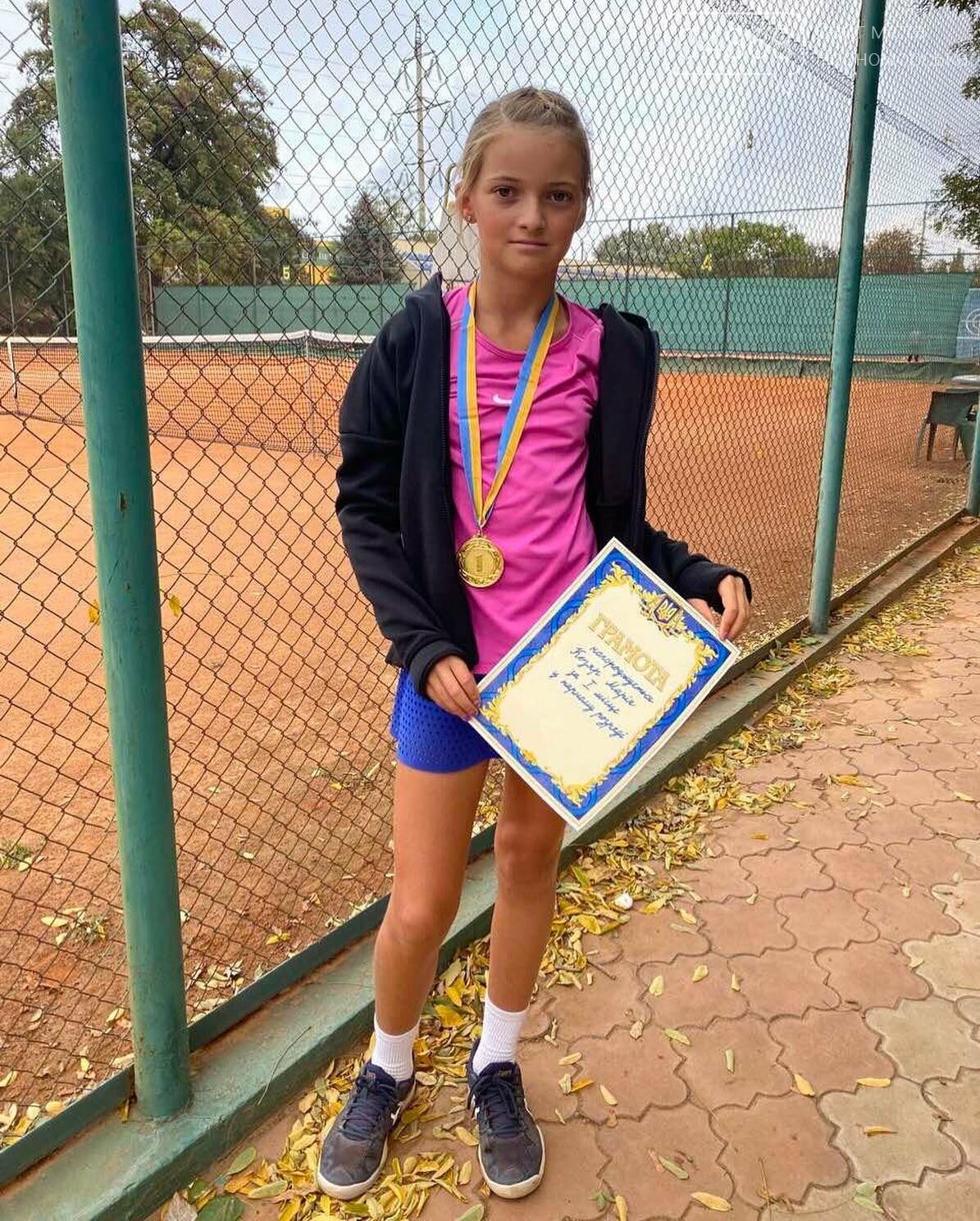 Спортсменка из Черноморска завоевала первое место в теннисном турнире , фото-1