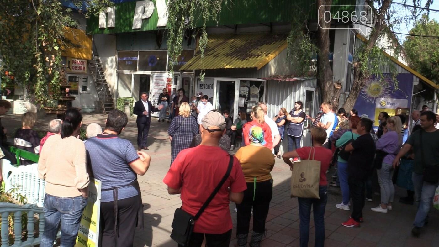 О проблемах предпринимателей и горожан: Михаил Дудников провел встречу на «Утреннем» рынке (видео), фото-1