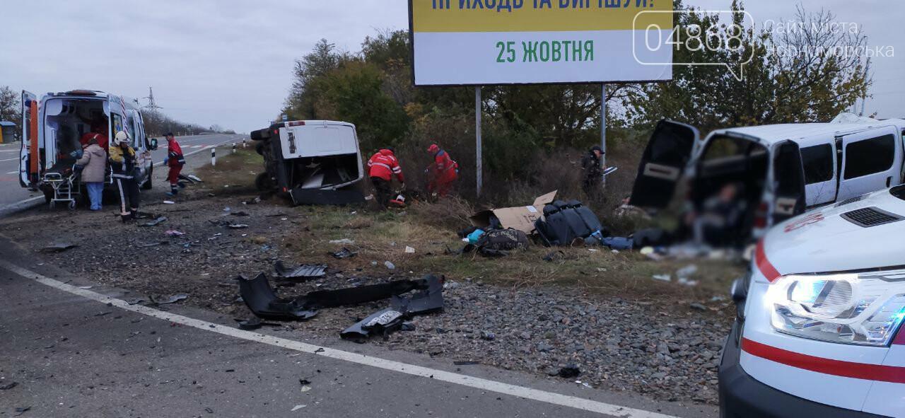 На трассе Одесса-Рени столкнулись два микроавтобуса: есть погибшие, фото-1