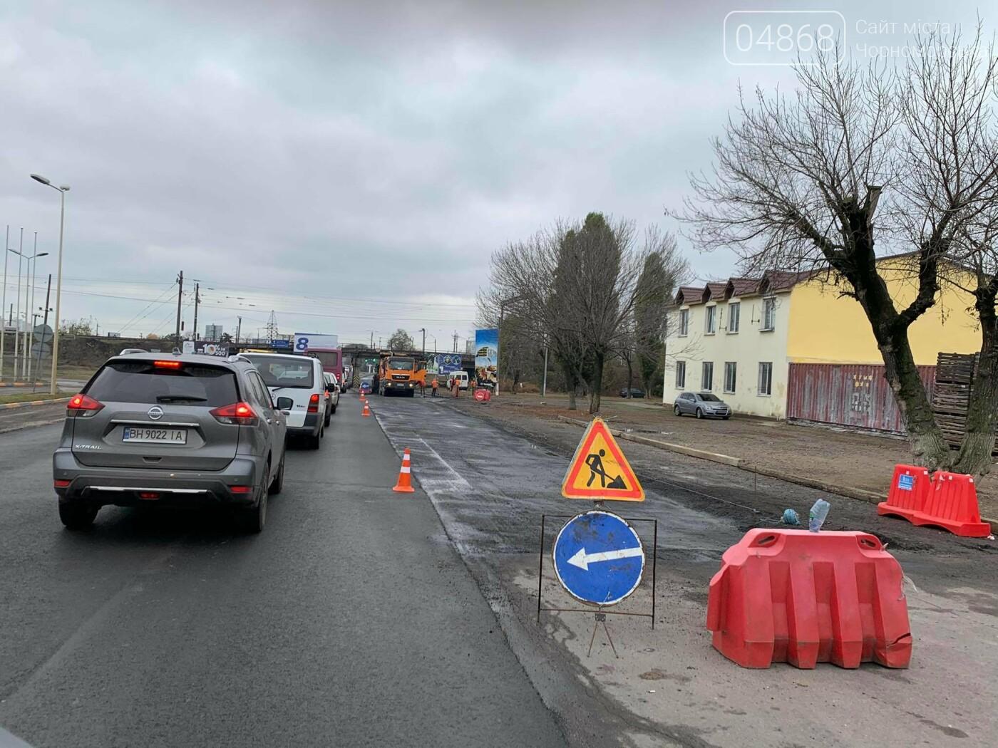 Из-за ремонтных работ в Адександровке образовалась пробка, фото-1