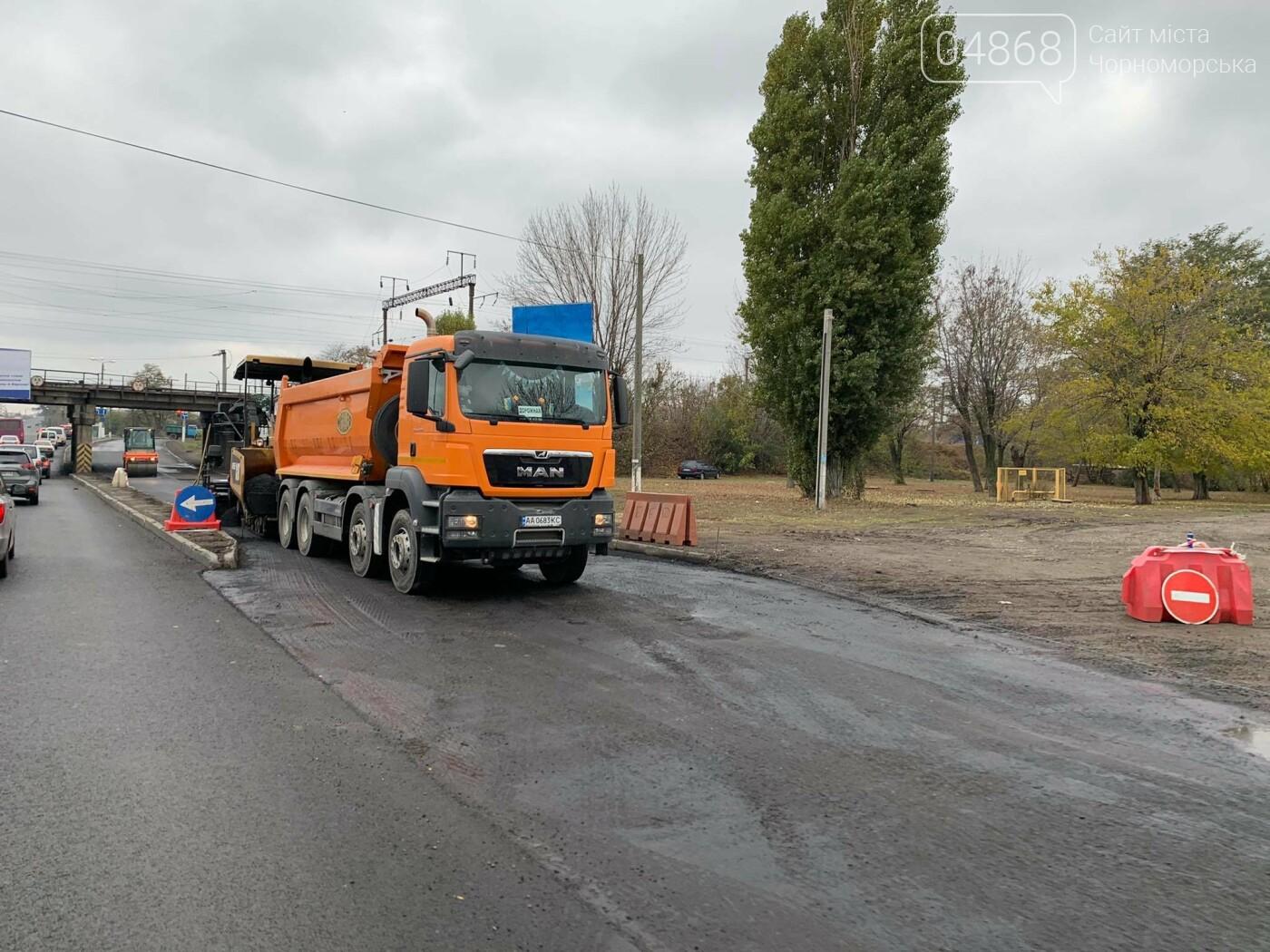 Из-за ремонтных работ в Адександровке образовалась пробка, фото-5