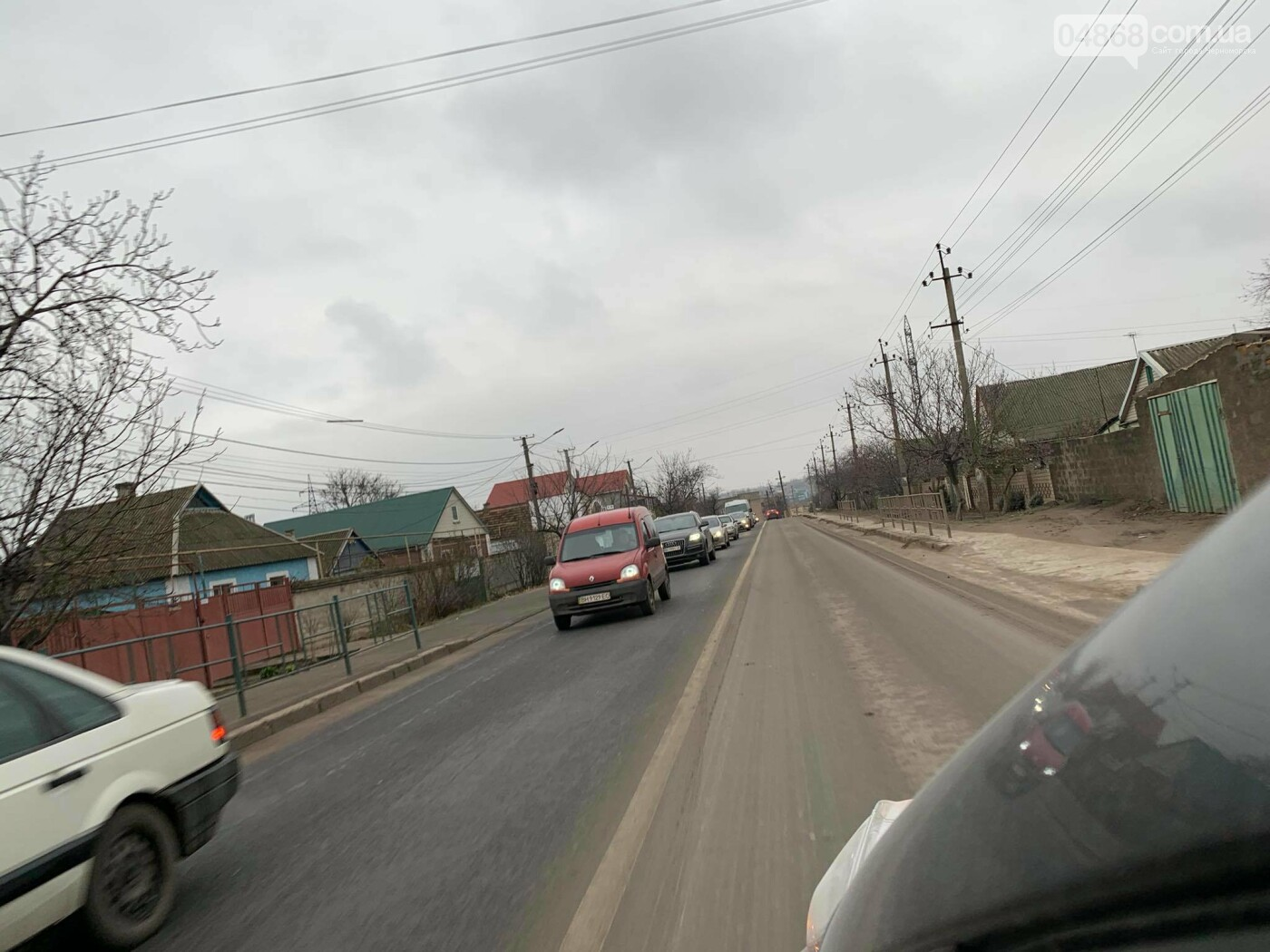 На трассе Черноморск - Одесса образовалась пробка (видео), фото-3