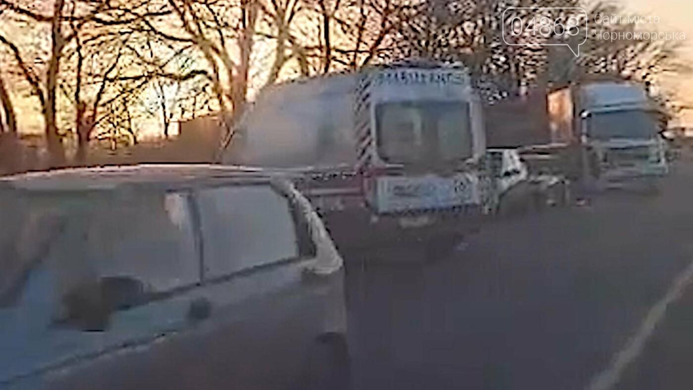 На трассе Черноморск – Одесса произошло масштабное ДТП (видео), фото-1