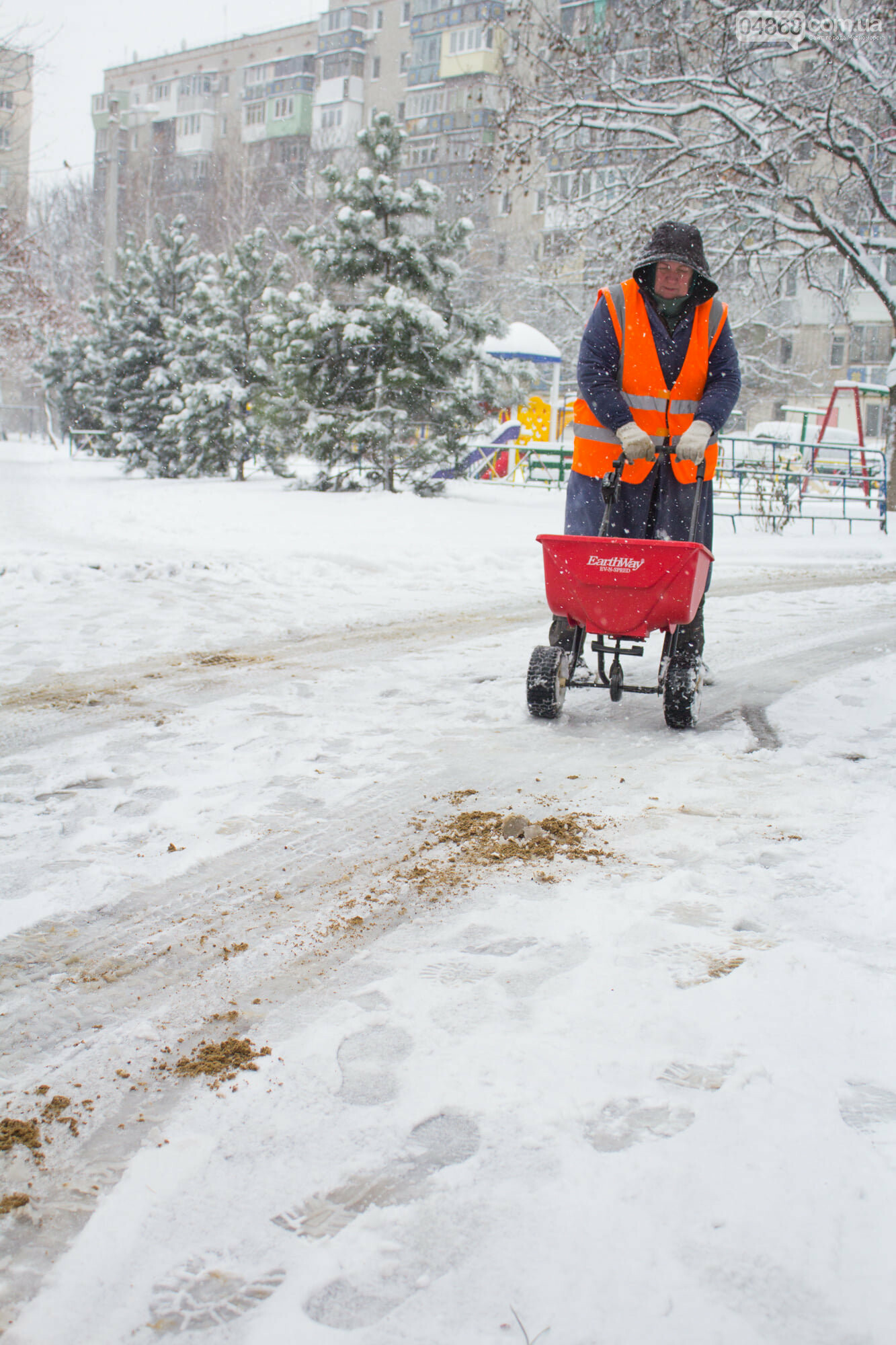 Выпало больше 10 см осадков: как в Черноморске снег убирали, фото-9