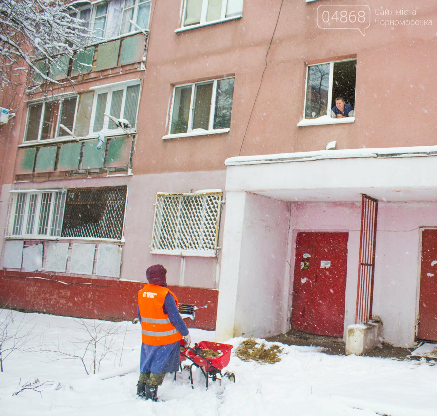 Выпало больше 10 см осадков: как в Черноморске снег убирали, фото-5