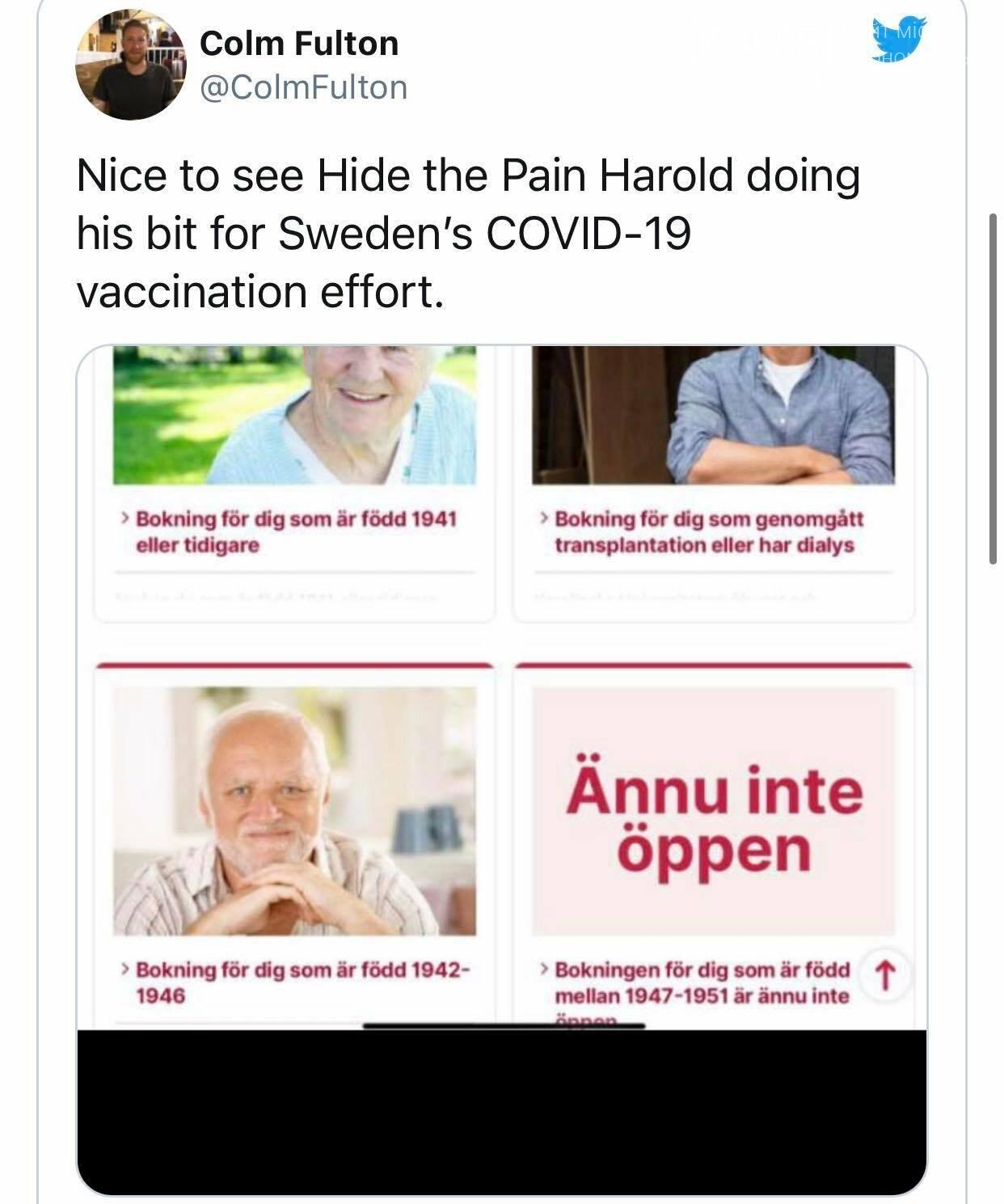 Шведский казус: пенсионеров призвали к вакцинации, использовав известный мем, фото-1