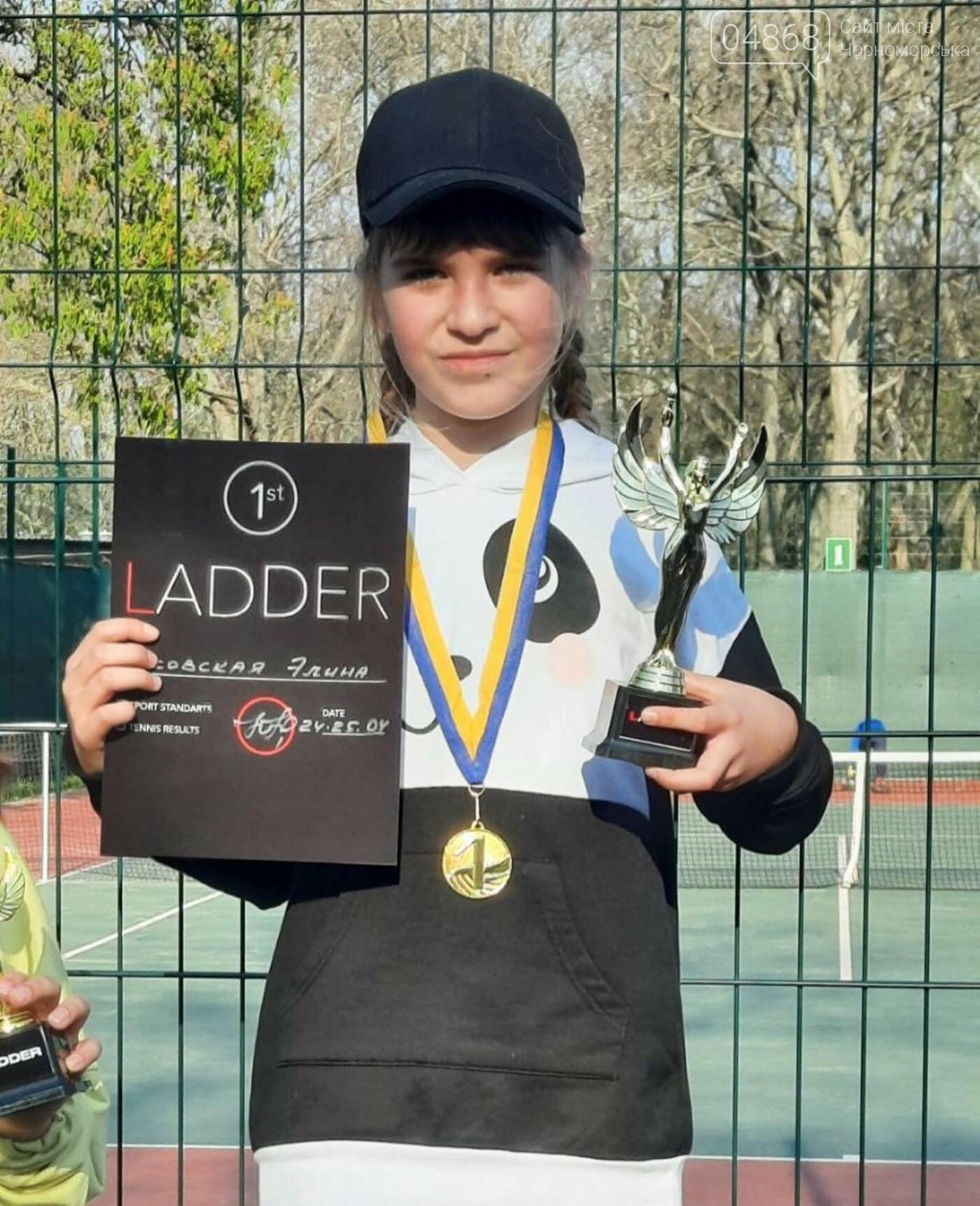 Юные теннисистки из Черноморска завоевали первые места в детском турнире, фото-3