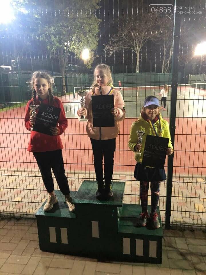Юные теннисистки из Черноморска завоевали первые места в детском турнире, фото-2