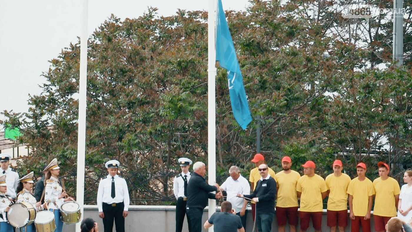 В Черноморске состоялась торжественная церемония поднятия Голубого флага, фото-5