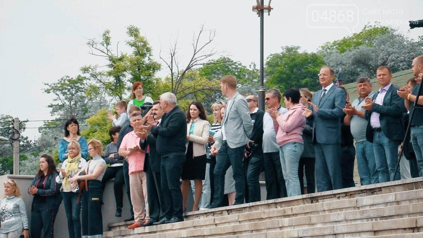 В Черноморске состоялась торжественная церемония поднятия Голубого флага, фото-6