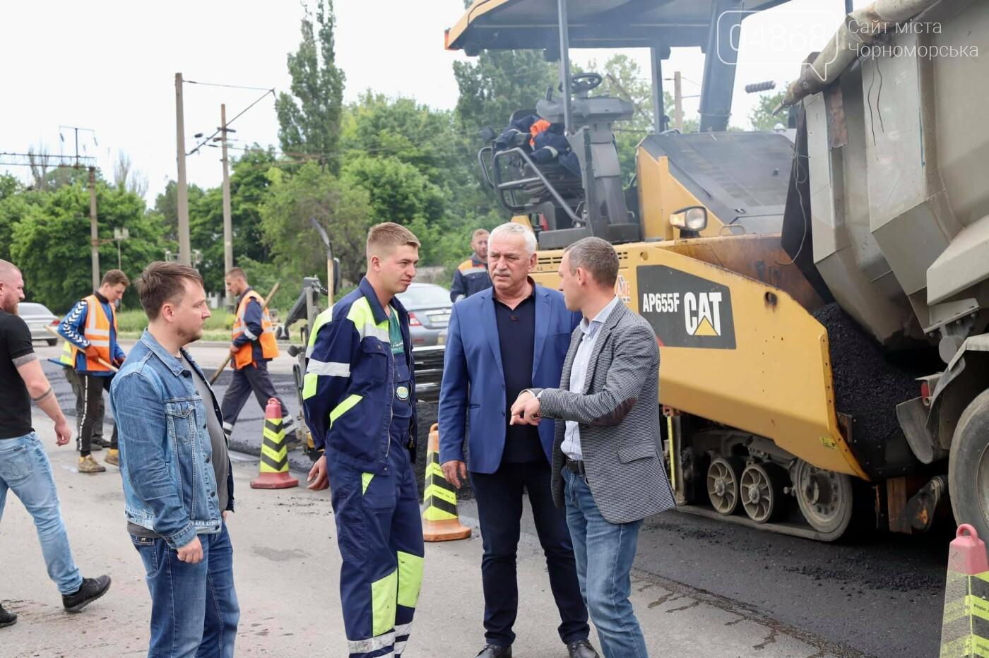 В Черноморске продолжается ремонт проблемного участка дороги, фото-2