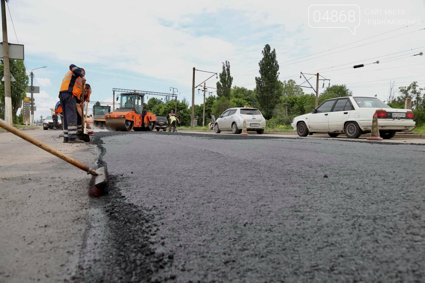 В Черноморске продолжается ремонт проблемного участка дороги, фото-6