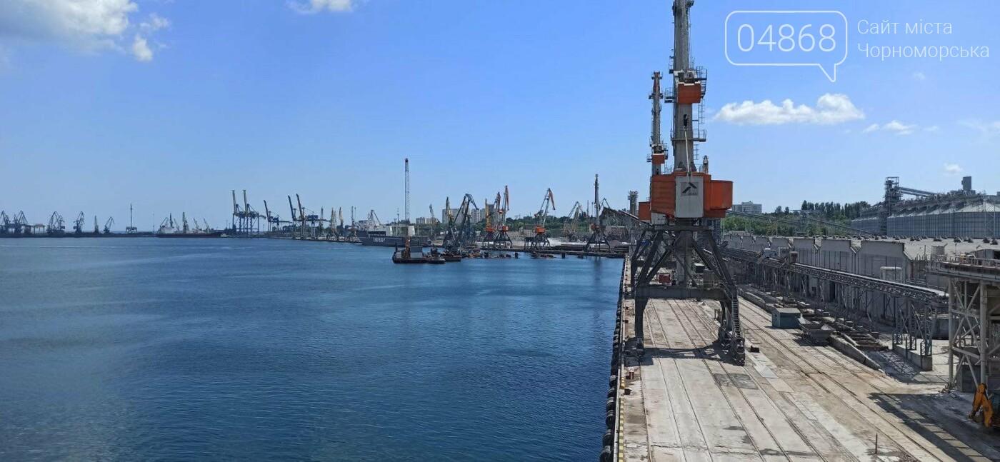В Черноморске продолжаются работы по строительству двухстороннего пирса, фото-1