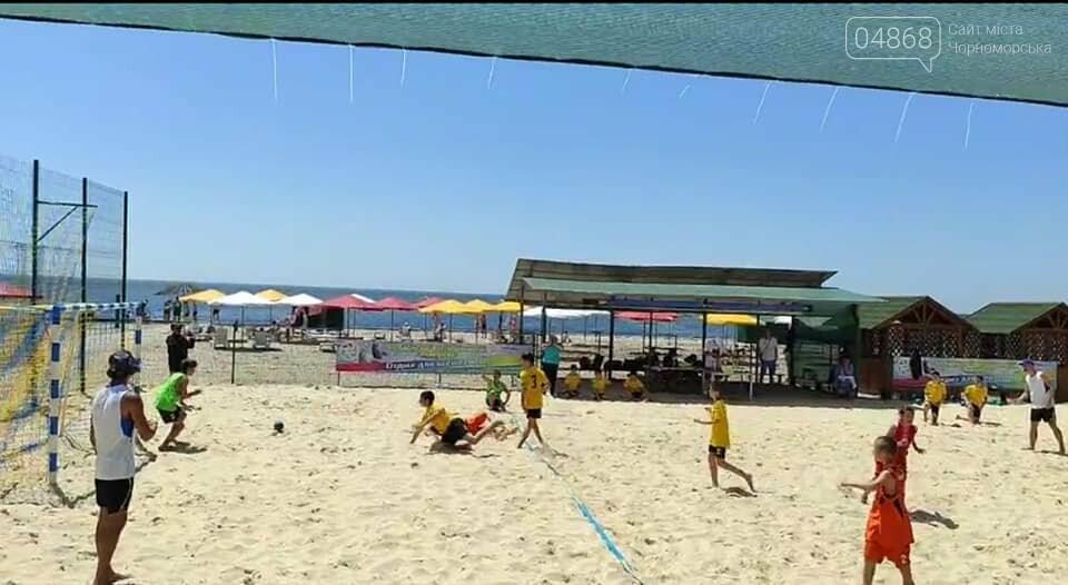 Черноморские спортсмены приняли участие в чемпионате Украины по пляжному гандболу, фото-8