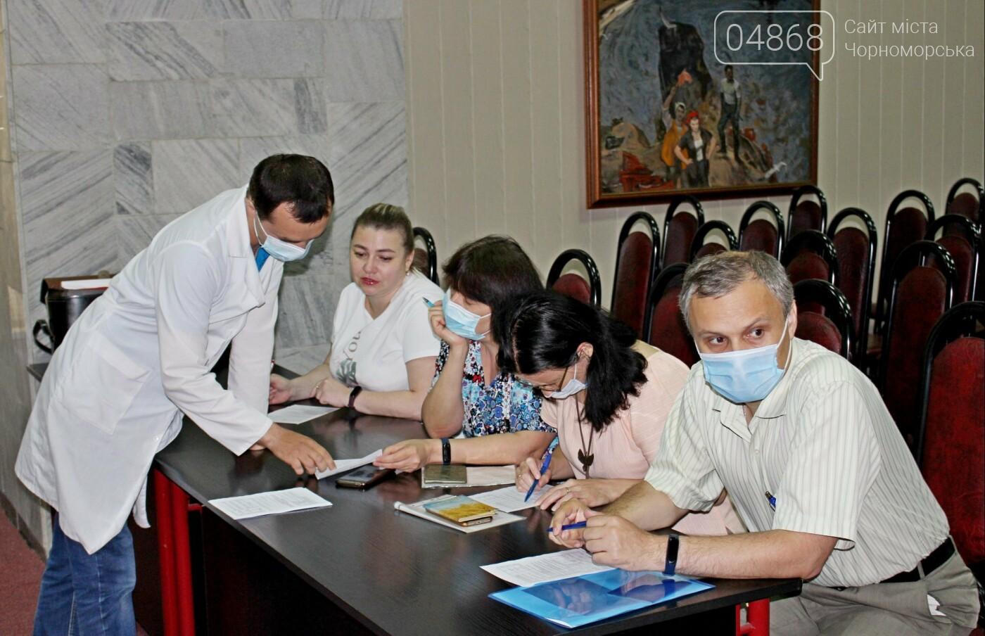 В порту Черноморска провели первый этап вакцинации от Covid-19 работников, фото-8