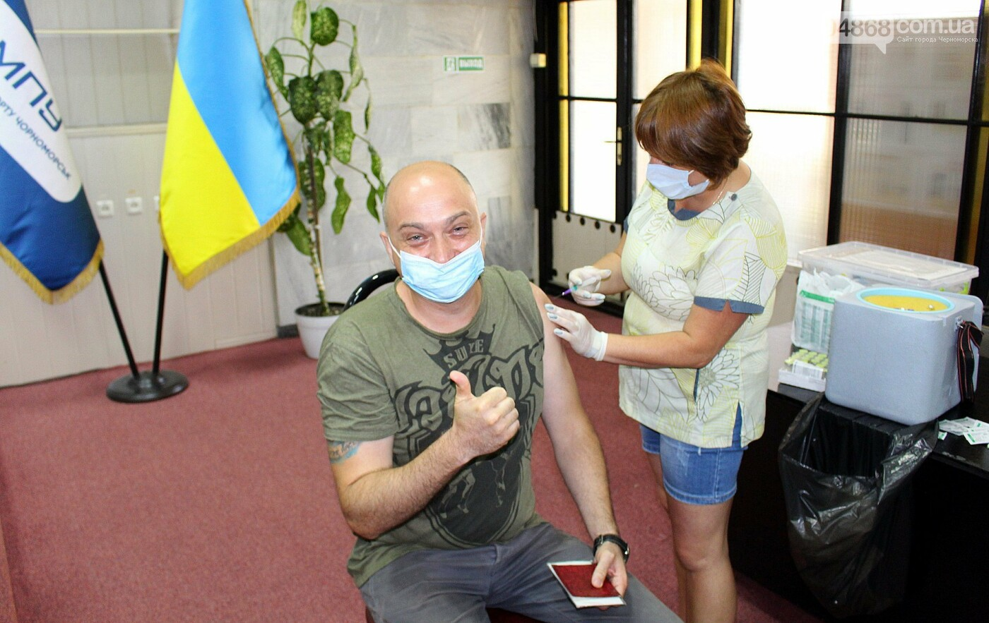 В Черноморске продолжается вакцинация работников Администрации морского порта, фото-2