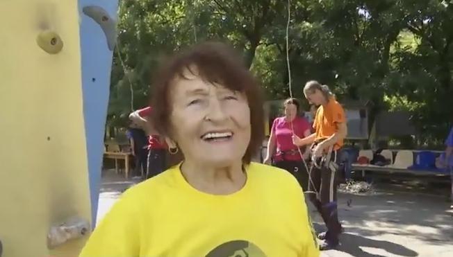 В Одессе прошел чемпионат Украины по скалолазанию среди ветеранов, самой старшей альпинистке 82 года (видео), фото-2