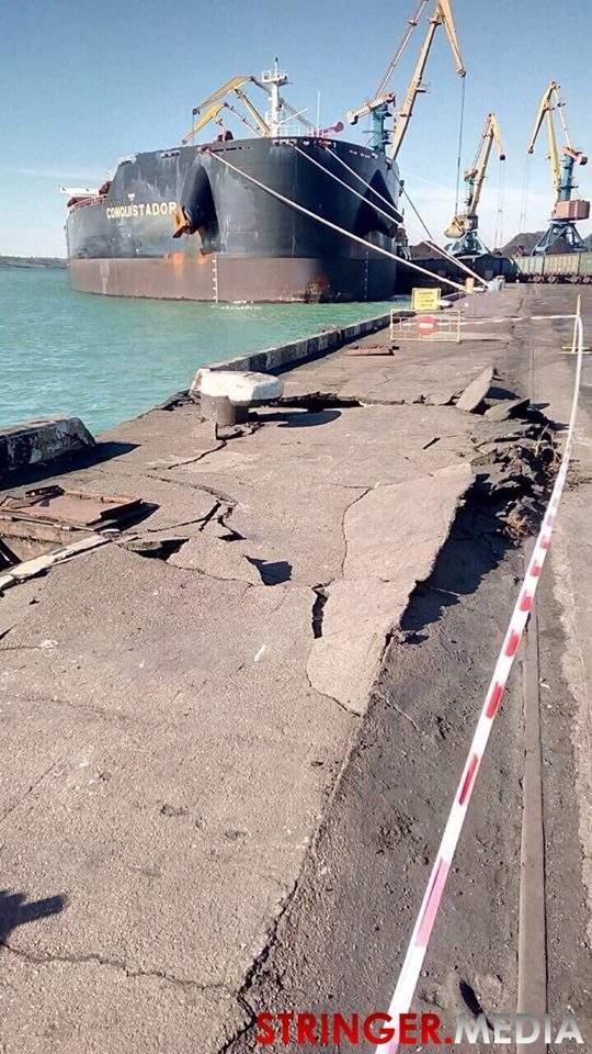 Американское судно с углем протаранило причал №8 глубоководного порта «Южный», фото-1