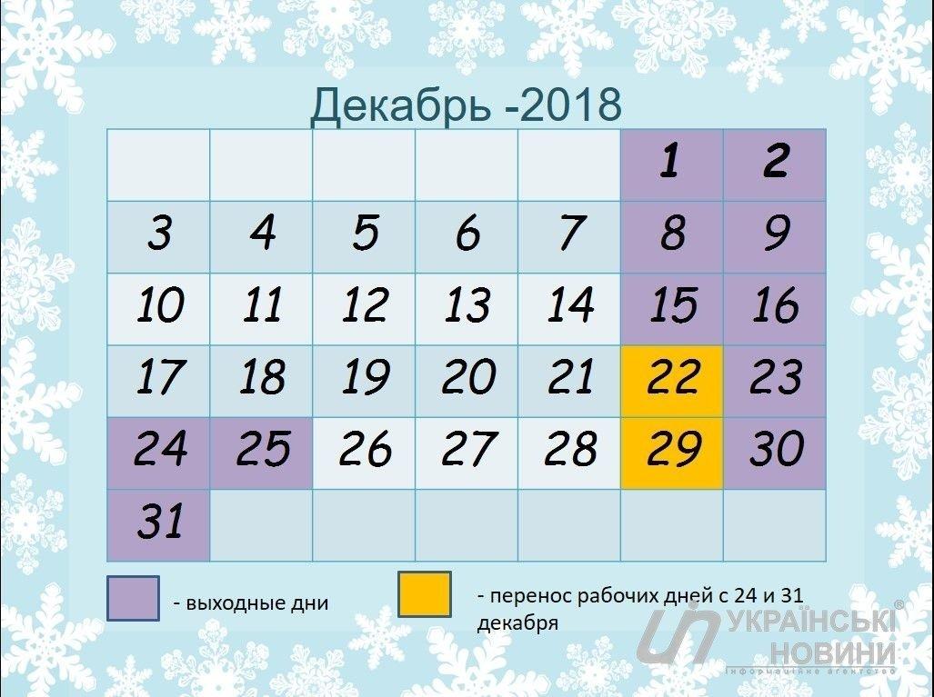 Выходные в декабре: украинцы будут отдыхать треть месяца, фото-1