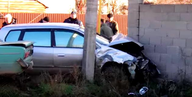 Столкновение двух машин: страшная авария под Черноморском (видео), фото-1