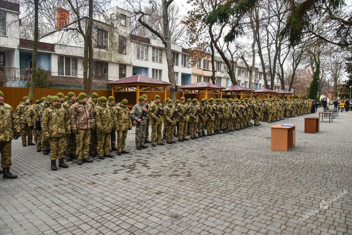 В Одессе резервисты нового формирования приняли военную присягу (фото), фото-1