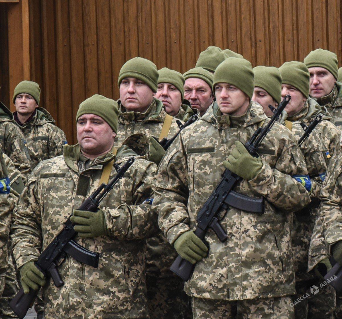 В Одессе резервисты нового формирования приняли военную присягу (фото), фото-2