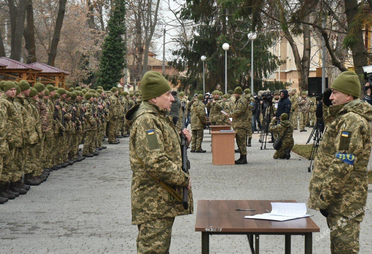 В Одессе резервисты нового формирования приняли военную присягу (фото), фото-3