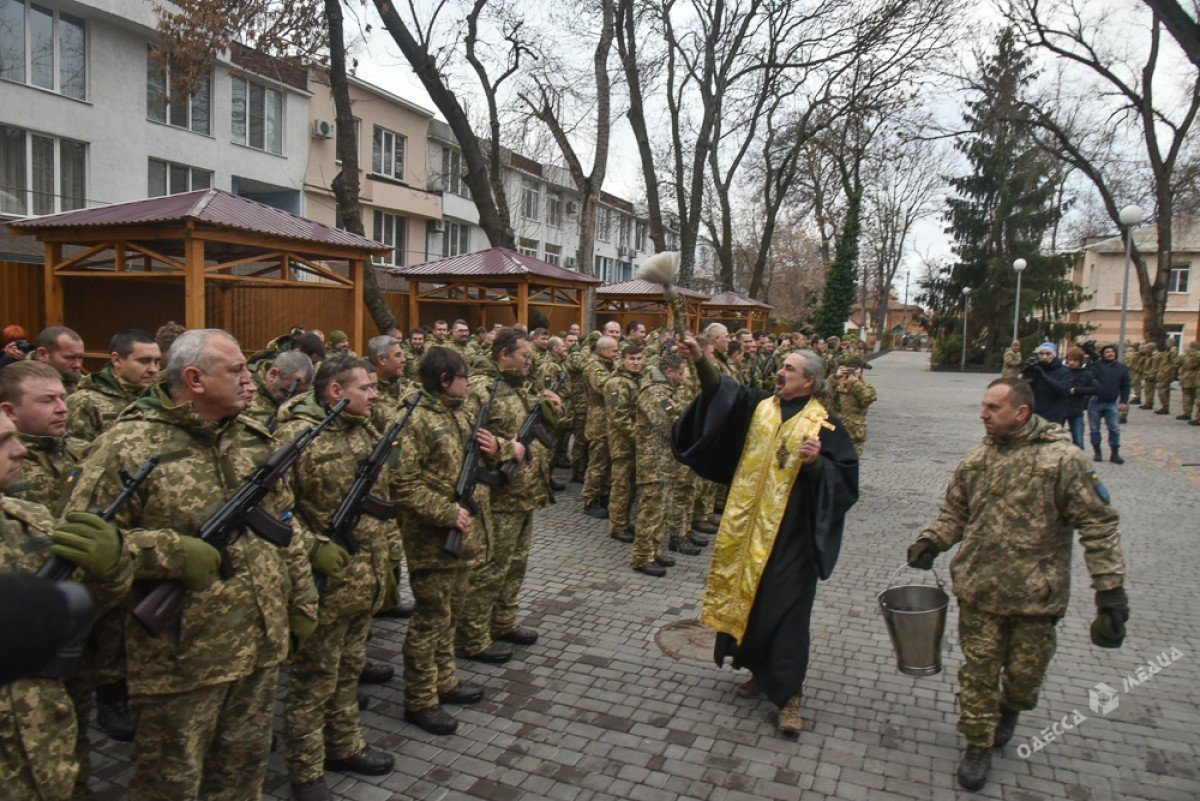 В Одессе резервисты нового формирования приняли военную присягу (фото), фото-4