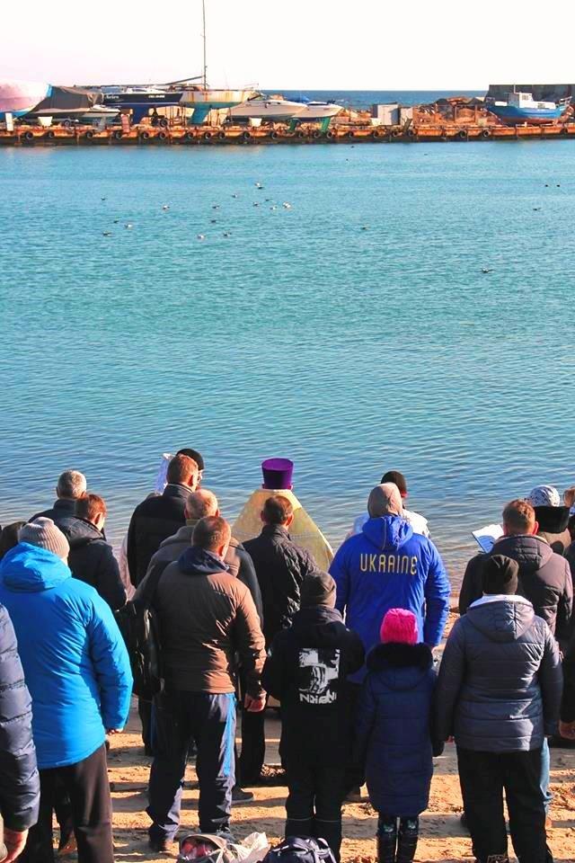 В Черноморске прошли крещенские купания, фото-8