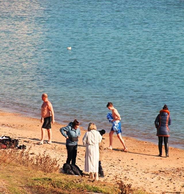 В Черноморске прошли крещенские купания, фото-13