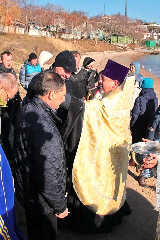 В Черноморске прошли крещенские купания, фото-14