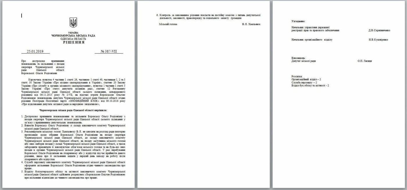 Мэр города подписал решения сессии об увольнении двух замов и секретаря горсовета Черноморска, фото-4