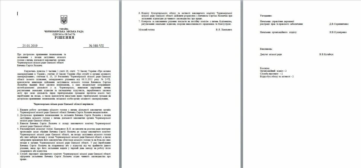 Мэр города подписал решения сессии об увольнении двух замов и секретаря горсовета Черноморска, фото-5