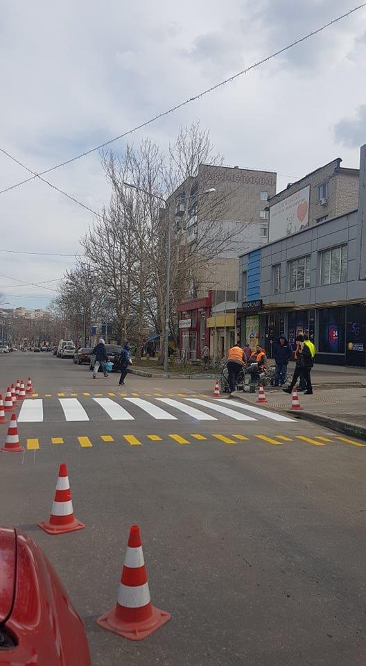 На дороге Черноморска оживляют многострадальную «зебру», фото-3