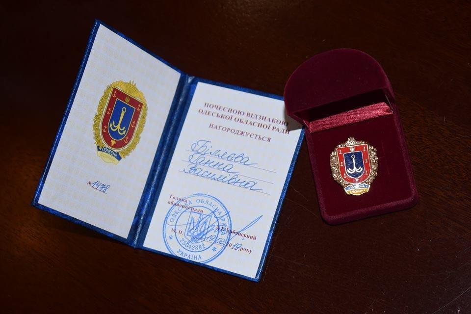 В Черноморске работника культуры наградили почетным знаком Одесского областного совета, фото-1