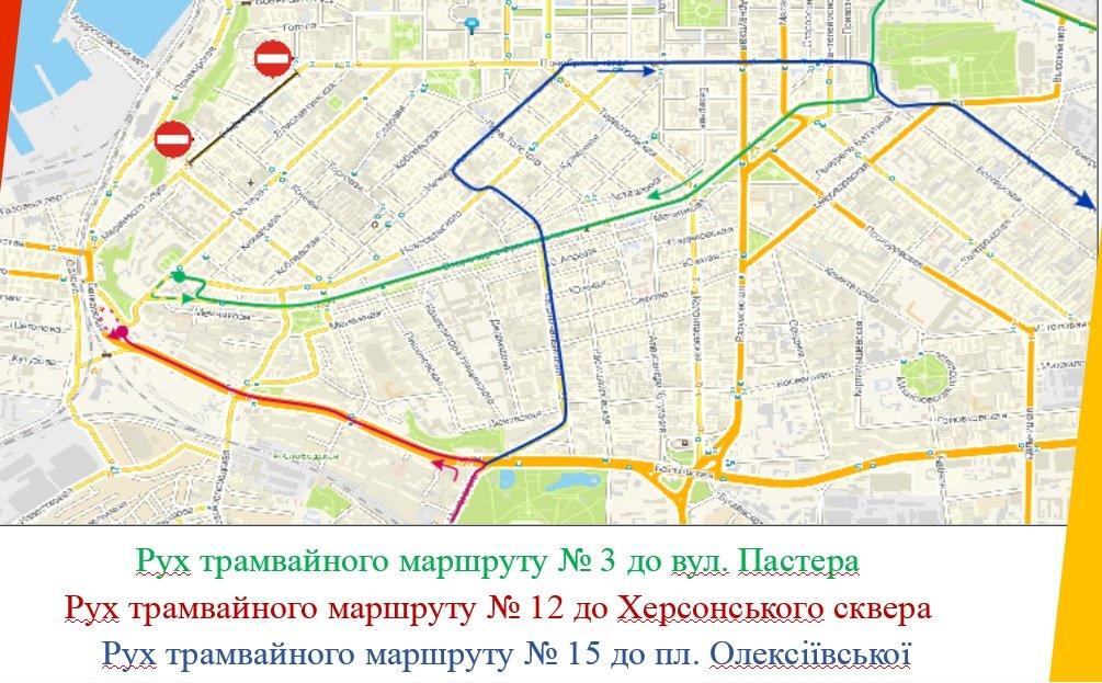Ремонт улицы Софиевской в Одессе: Как будет ходить транспорт, фото-3