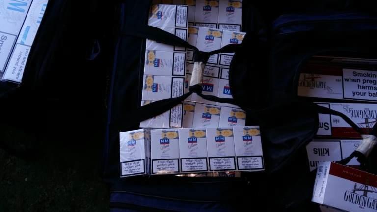 В пункте пропуска МТП «Черноморск» пограничники выявили более 20 тысяч пачек контрабандных сигарет, фото-1