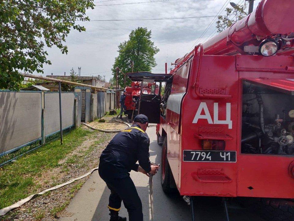 Черноморские спасатели тушили пожар в Александровке, фото-3