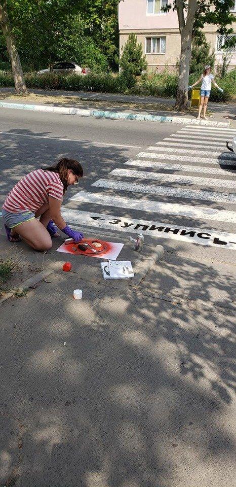 Стоп, пешеход! В Черноморске напоминают, что нужно останавливаться перед пешеходным переходом, фото-7