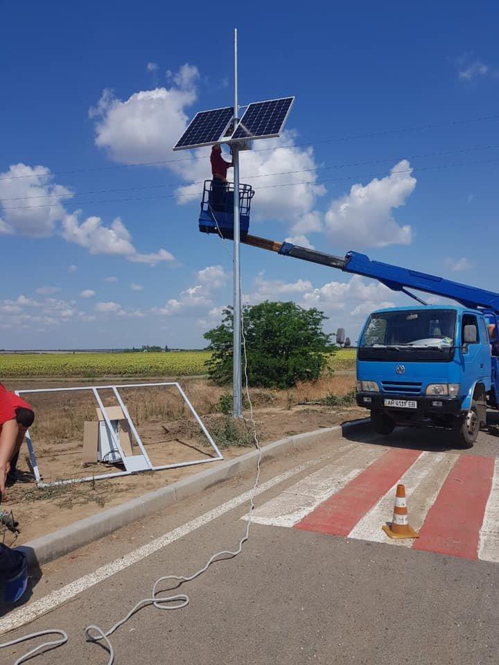 В Одесской области устанавливают автономную систему освещения, фото-2