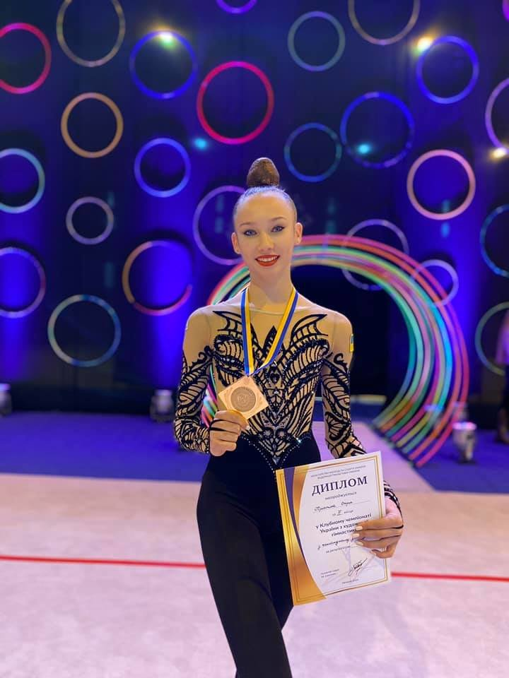 Гимнастка из Черноморска получила бронзовую медаль на чемпионате Украины, фото-1