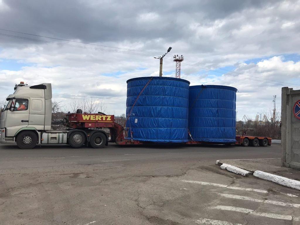 Через порт Черноморск осуществили доставку негабаритного груза, фото-1