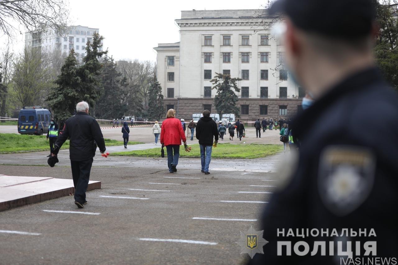 Седьмая годовщина трагедии в Доме профсоюзов в Одессе прошло спокойно, фото-1